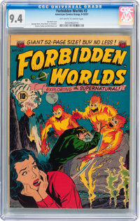Forbidden Worlds #2 (ACG, 1951) CGC NM 9.4 Off-white to white pages