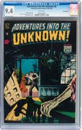 Golden Age (1938-1955):Horror, Adventures Into The Unknown #8 Diamond Run pedigree (ACG, 1949) CGCNM 9.4 White pages....