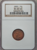 Indian Cents: , 1880 1C MS65 Red and Brown NGC. NGC Census: (166/32). PCGSPopulation (53/1). Mintage: 38,964,956. Numismedia Wsl. Price fo...