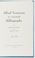 Books:Reference & Bibliography, Charles Tennyson, et al. Alfred Tennyson: An AnnotatedBibliography. Univ. of Georgia, 1967. First edition, firstpr...