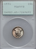 Mercury Dimes: , 1931 10C MS65 Full Bands PCGS. PCGS Population (101/76). NGCCensus: (55/11). Mintage: 3,150,000. Numismedia Wsl. Price for...