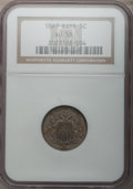 Shield Nickels: , 1867 5C Rays AU58 NGC. NGC Census: (42/379). PCGS Population(56/354). Mintage: 2,019,000. Numismedia Wsl. Price for proble...