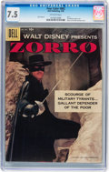 Silver Age (1956-1969):Adventure, Four Color #882 Zorro (Dell, 1958) CGC VF- 7.5 Off-white pages....