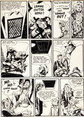 "Original Comic Art:Panel Pages, Will Eisner The Spirit ""The Elevator"" Page 6 Original ArtDated 6-26-49 (1949)...."
