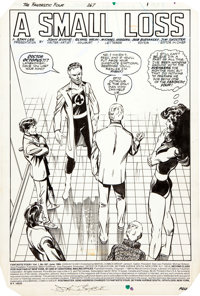 """John Byrne Fantastic Four #267 Complete 22-page Story """"A Small Loss"""" Original Art (Marvel, 1984)"""