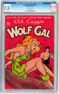 Al Capp's Wolf Gal #1 (Toby Publishing, 1951) CGC VF- 7.5 Off-white pages