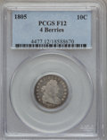 Early Dimes: , 1805 10C 4 Berries Fine 12 PCGS. PCGS Population (22/271). NGCCensus: (13/221). Mintage: 120,780. Numismedia Wsl. Price fo...