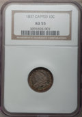 Bust Dimes: , 1837 10C AU55 NGC. NGC Census: (6/99). PCGS Population (18/62).Mintage: 359,500. Numismedia Wsl. Price for problem free NG...