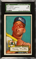 Baseball Cards:Singles (1950-1959), 1952 Topps Mickey Mantle #311 SGC Authentic. ...