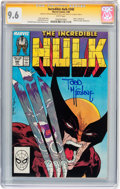 Modern Age (1980-Present):Superhero, The Incredible Hulk #340 Signed by Todd McFarlane (Marvel, 1988)CGC Signature Series NM+ 9.6 White pages....
