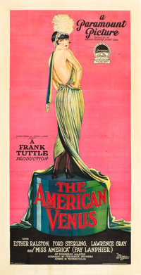 "The American Venus (Paramount, 1926). Three Sheet (41"" X 81"")"