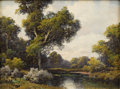 Texas:Early Texas Art - Impressionists, A. D. GREER (1904-1998). Peaceful Stream, 1963. Oil oncanvas. 12 x 16 inches (30.5 x 40.6 cm). Signed and dated lowerl...