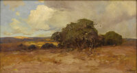JULIAN ONDERDONK (1882-1922) Untitled Texas Dry Country Oil on canvas 16 x 30 inches (40.6 x 76.2 cm) Sig