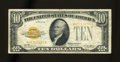 Small Size:Gold Certificates, Fr. 2400 $10 1928 Gold Certificate. Fine+.. . ...