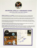 "Autographs:Celebrities, Apollo 11 Signed Insurance Cover, 6.5"" x 3.5"". Apollo 8 six-centstamp affixed postmarked Houston, Texas, July 20, 1969, the...(Total: 1 Item)"