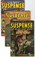 Golden Age (1938-1955):Horror, Suspense #2, 7, and 14 Group (Atlas, 1950-52) Condition: AverageVG+.... (Total: 3 Comic Books)