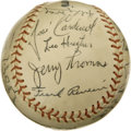Autographs:Baseballs, 1960s Tacoma Giants Team Signed Baseball. Signed some time in theearly 1960s, this orb comes to us via the Tacoma Giants m...
