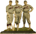 Baseball Collectibles:Others, 1930's St. Louis Cardinals Cut-Out . Unique and unusual woodedcut-out featuring the likeness of three of the 1932 St. Loui...