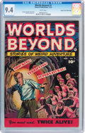Golden Age (1938-1955):Horror, Worlds Beyond #1 Mile High pedigree (Fawcett Publications, 1951)CGC NM 9.4 White pages....