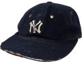 Baseball Collectibles:Uniforms, Circa 1932 Babe Ruth Game Worn New York Yankees Cap....