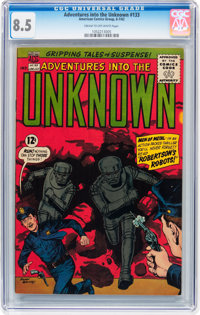 Adventures Into The Unknown #133 (ACG, 1962) CGC VF+ 8.5 Cream to off-white pages