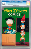 Golden Age (1938-1955):Cartoon Character, Walt Disney's Comics and Stories #150 (Dell, 1953) CGC VF/NM 9.0Off-white to white pages....