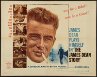 """The James Dean Story (Warner Brothers, 1957). Half Sheet (22"""" X 28""""). Documentary"""