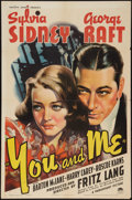 """Movie Posters:Drama, You and Me (Paramount, 1938). One Sheet (27"""" X 41""""). Drama.. ..."""