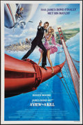 """Movie Posters:James Bond, A View to a Kill (United Artists, 1985). One Sheet (27"""" X 41"""").James Bond. Style B.. ..."""