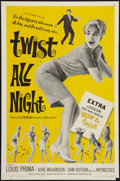 "Movie Posters:Rock and Roll, Twist All Night (American International, 1962). One Sheet (27"" X41""). Rock and Roll.. ..."