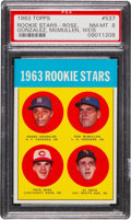 Baseball Cards:Singles (1960-1969), 1963 Topps Pete Rose Rookie #537 PSA NM-MT 8....