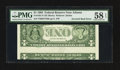Error Notes:Inverted Reverses, Fr. 1921-F $1 1995 Federal Reserve Note. PMG Choice About Unc 58EPQ.. ...