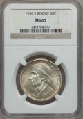 Commemorative Silver: , 1936-S 50C Boone MS65 NGC. NGC Census: (372/265). PCGS Population(444/279). Mintage: 5,006. Numismedia Wsl. Price for prob...