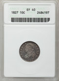 Bust Dimes: , 1827 10C XF40 ANACS. NGC Census: (10/229). PCGS Population(23/213). Mintage: 1,300,000. Numismedia Wsl. Price for problem ...