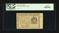 Colonial Notes:New York, New York August 13, 1776 $1/16 PCGS Gem New 65PPQ.. ...