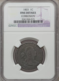 1803 1C Small Date, Small Fraction -- Corrosion -- NGC Details. Fine. NGC Census: (26/330). PCGS Population (18/348). Mi...