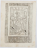 Books:Prints & Leaves, Conrad Dinckmut [printer]. Single leaf from Zeitglocklein.Ulm, 1493. Approx. 5.75 x 4.25 inches. Small pieces of mo...