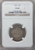 Bust Quarters: , 1832 25C XF40 NGC. NGC Census: (5/102). PCGS Population (17/123).Mintage: 320,000. Numismedia Wsl. Price for problem free ...