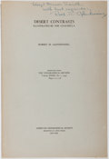 Books:Natural History Books & Prints, Robert M. Glendinning. INSCRIBED. Desert Contrasts. Amer. Geographical Society, ca. 1949. First edition, first print...
