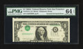 Error Notes:Inverted Third Printings, Fr. 1915-L $1 1988A Federal Reserve Note. PMG Choice Uncirculated64 EPQ.. ...