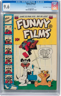 """Funny Films #4 Davis Crippen (""""D"""" Copy) pedigree (ACG, 1950) CGC NM+ 9.6 Off-white to white pages"""