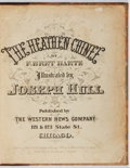 Books:Literature Pre-1900, F. Bret Harte. The Heathen Chinee. Western News, 1870. Firstedition, first printing. Plates and envelope bound in s...