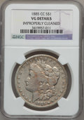 Morgan Dollars: , 1885-CC $1 -- Improperly Cleaned -- NGC Details. VG. NGC Census: (2/8875). PCGS Population (13/18118). Mintage: 228,000. Nu...
