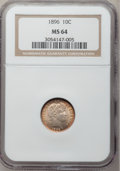 Barber Dimes: , 1896 10C MS64 NGC. NGC Census: (28/25). PCGS Population (32/28).Mintage: 2,000,762. Numismedia Wsl. Price for problem free...