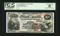 National Bank Notes:Pennsylvania, Canton, PA - $10 1882 Brown Back Fr. 490 The First NB Ch. #(E)2505. ...
