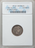 Barber Dimes: , 1901-S 10C -- Scratched -- ANACS. VF20 Details. NGC Census: (1/71).PCGS Population (6/105). Mintage: 593,022. Numismedia W...