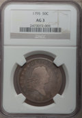 Early Half Dollars: , 1795 50C 2 Leaves AG3 NGC. NGC Census: (0/889). PCGS Population(18/1364). Mintage: 299,680. Numismedia Wsl. Price for prob...