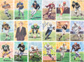 Football Collectibles:Others, 1989-94 Football Hall of Famers Signed Goal Line Art Cards Lot of 18....