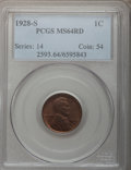 Lincoln Cents: , 1928-S 1C MS64 Red PCGS. PCGS Population (147/46). NGC Census:(65/14). Mintage: 17,266,000. Numismedia Wsl. Price for prob...