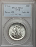 Commemorative Silver: , 1937-D 50C Texas MS66 PCGS. PCGS Population (486/125). NGC Census:(458/96). Mintage: 6,605. Numismedia Wsl. Price for prob...